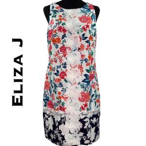Eliza J Floral Shift Dress Size 8